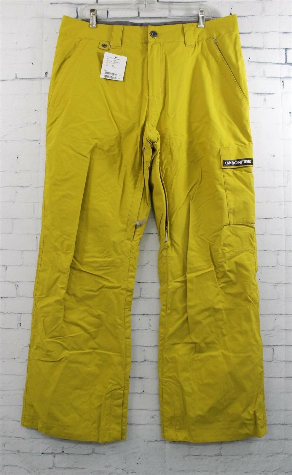 New 2016  Bonfire Mens Taggart Ski and Snowboard Pants Large Maize  good reputation