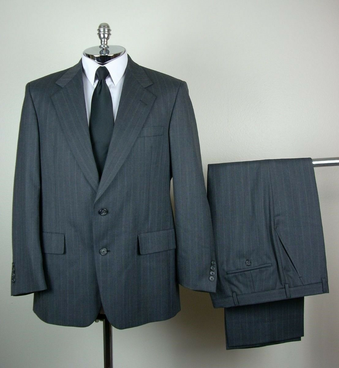 HART SCHAFFNER & MARX  Herren grau PURE VIRGIN WOOL Two Button Suit Größe 41 S