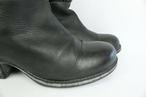 5 Boots Life Buono Uk 39 T 5 stato Leather Black 0grnxBg