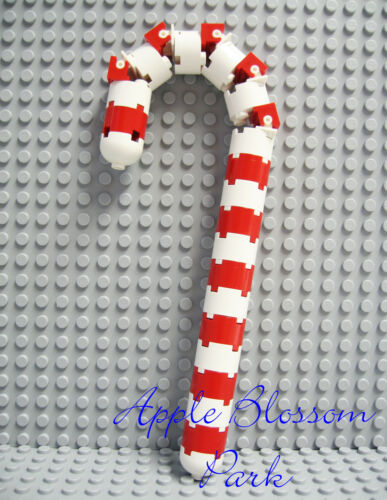 NEW Lego Christmas CANDY CANE KIT Red White Xmas Santa Stocking Stuffer Ornament