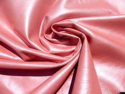 5 Lambskin leather hide skin hides skins pelt  Pearlized Rose