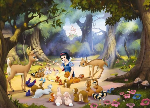 Large Size Wall Mural Wallpaper For Kids Room Snow White Disney Home Decor Idea