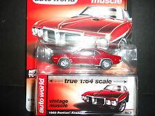 Auto World Pontiac Firebird 1969 Maroon 1/64 Detail Car