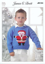 "James Brett Christmas DK Knitting pattern Childs Jumper  20-30/"" JB531"