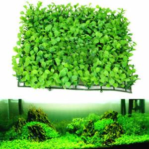 Green-Plastic-Water-Grass-Plant-Lawn-Fish-Tank-Landscape-Aquarium-Home-NEW