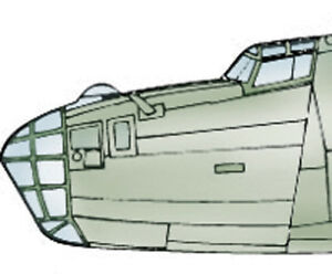 B-24-D-Liberator-Vacuform-Nose-and-Canopy-for-Monogram-1-48-Squadron-9588