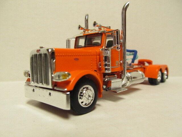 DCP 1 64 SCALE 389 PETERBILT DAY CAB (LONG FRAME) orange