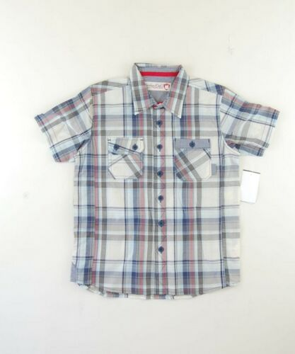 Sovereign Codes NWT AUTH Light Blue KIDS BOY/'S YOUTH Plaid Top Shirt Size XL