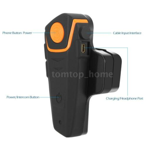 2X1000m BT-S2 Motorcycle BT Helmet Headset Interphone Intercom FM Radio New