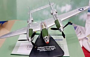 Lockheed-P38J-Lightning-Pilot-Buck-Rogers-1-72-Die-Cast-Oxford-Aviation
