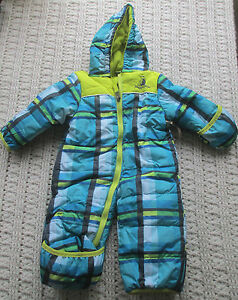 Details About Nwt 0 3m Baby Boys Pram Rugged Bear Blue Plaid Outerwear Coat