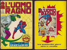 L'UOMO RAGNO 39 LA FINE DI UN INCUBO -CORNO 14/10/1971 + GIANT-MAN  E DR.STRANGE