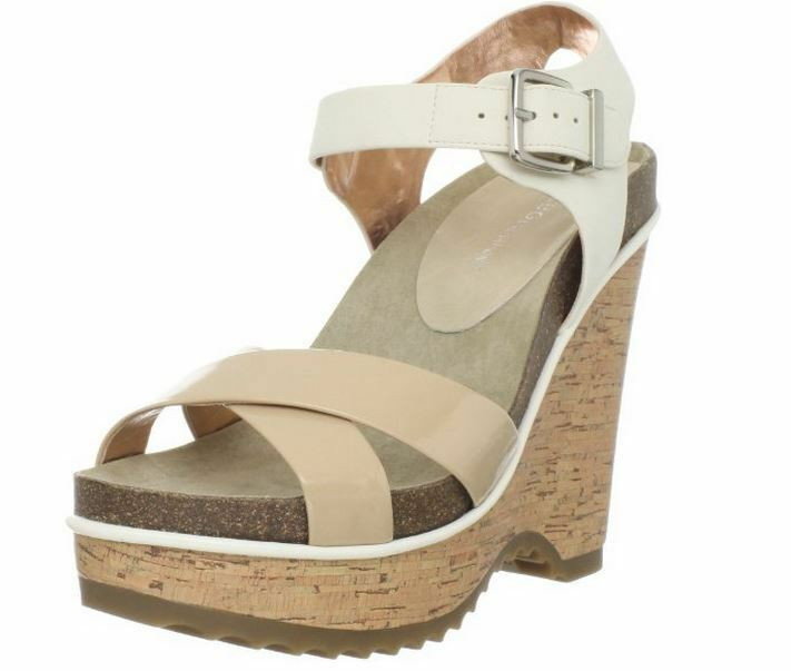 BCBGeneration Femme Chessa Wedge Mojave synthétique 8.5 M Neuf Display
