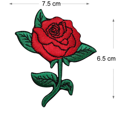 Sew On Embroidered Patch Applique Embroidery  Motif transfer Floral rose Iron