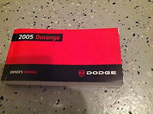 2005 dodge durango factory owners owner's manual $2. 00 | picclick.