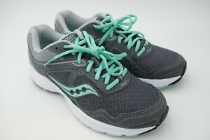 4ea702c79fb7 Saucony Cohesion 10 Running Shoes Women s Sneaker Grey Mint Size US ...