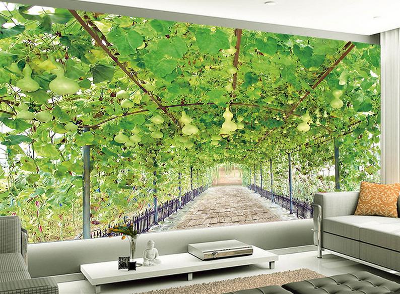 3D Grüne Rebe Frucht 85 Tapete Wandgemälde Tapete Tapeten Tapeten Tapeten Bild Familie DE Summer | Hohe Qualität Und Geringen Overhead  | Reparieren  |  632bd2