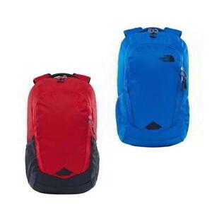 North-Face-Vault-Backpack-Mens-Womens-Blue-Red-Rucksack-Shoulder-Laptop-Bag