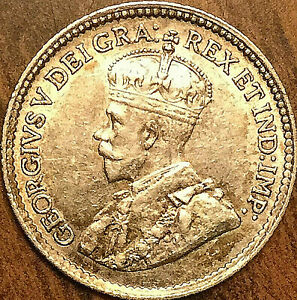 1918-CANADA-SILVER-5-CENTS-COIN-Excellent-example