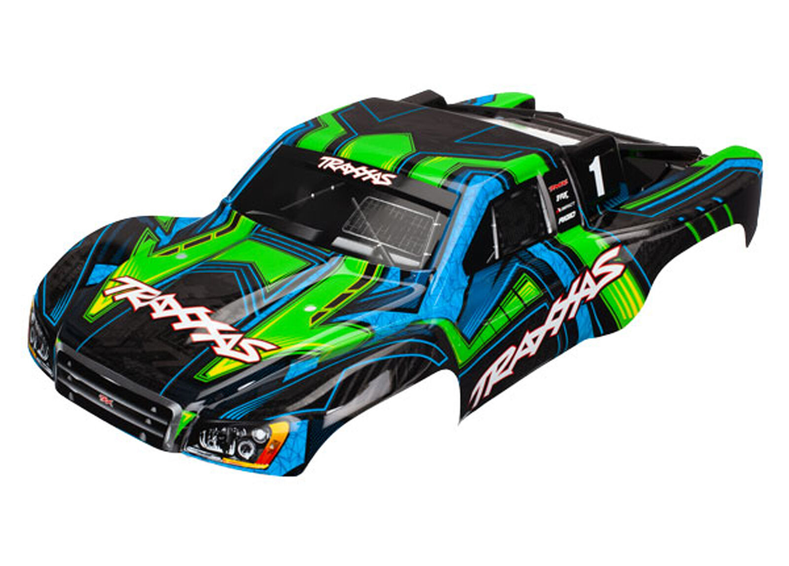Traxxas 6844X-Slash 4x4 Ultimate Body, verde Y Azul