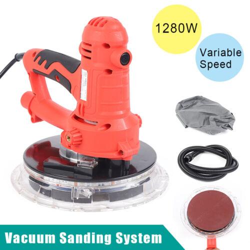 Electric HandHeld Drywall Sander 1280W Variable Speed w// Vacuum /& LED Lights New