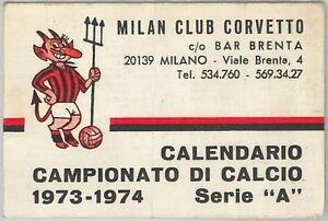 Como Calcio Calendario.Detalles De 65581 Vecchio Calendario Campionato Calcio 1973 1974 Milan