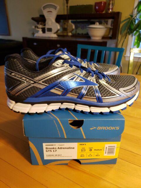 NIB  Brooks  ADRENALINE GTS 17 MENS SZ 12 .5 D blue / silver  new in box