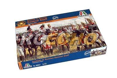 Italeri Historics 1/72 Napoleonic Wars Austrian Russian General Staff 6037 T6037