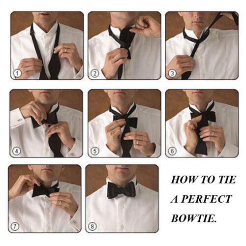 Mens Fashion Solid Color Self Bowtie Necktie Wedding Party Bow Ties 4 Colors