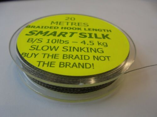 Smart silk braided hook length 20 metre spool  10lb B//S