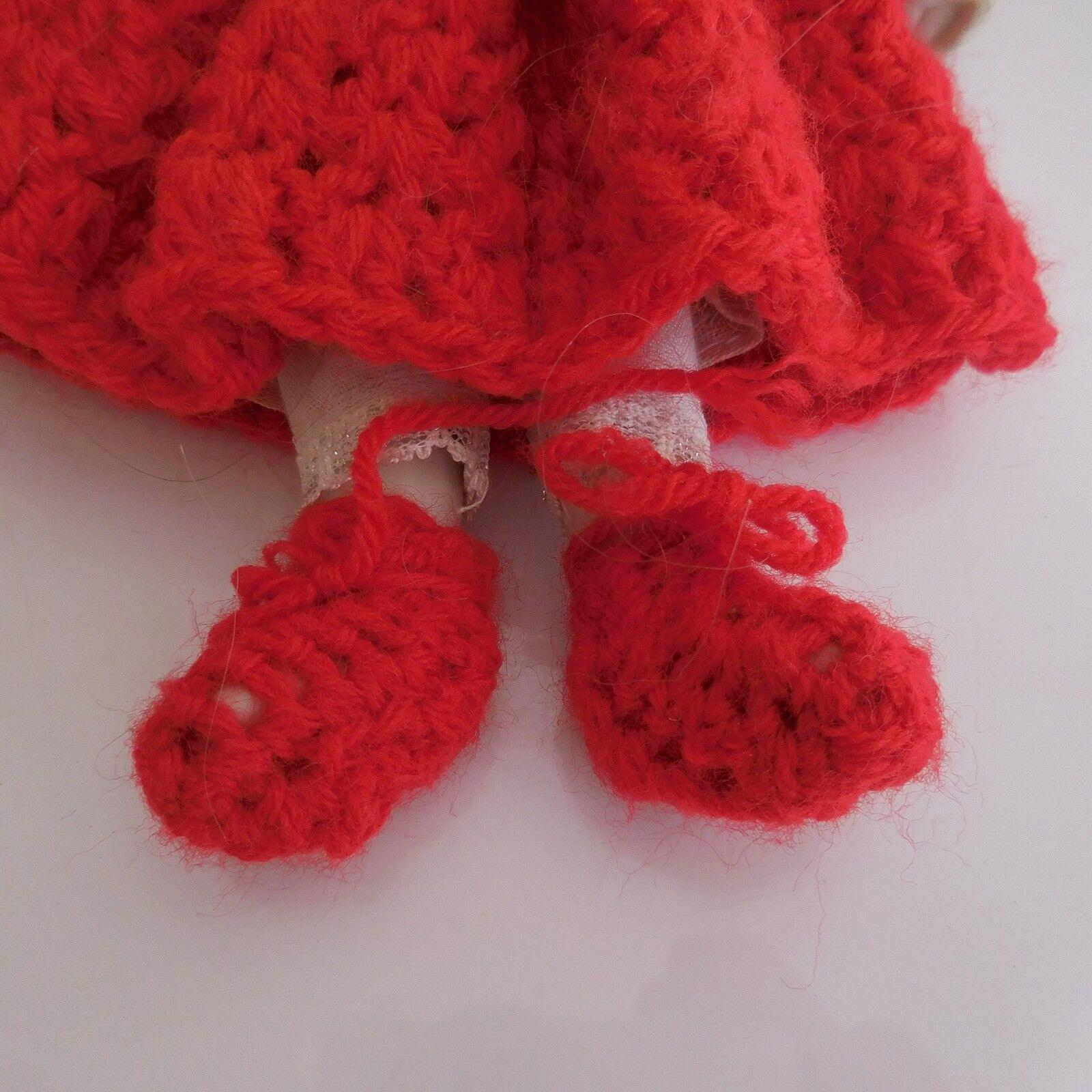 Poupée artiste fait fait fait main céramique laine dentelle vintage XXe PN France f87f14
