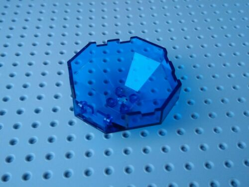 2418b with /'+/' hole Lego Canopy 6x6 Octagonal Dome Trans Blue x1