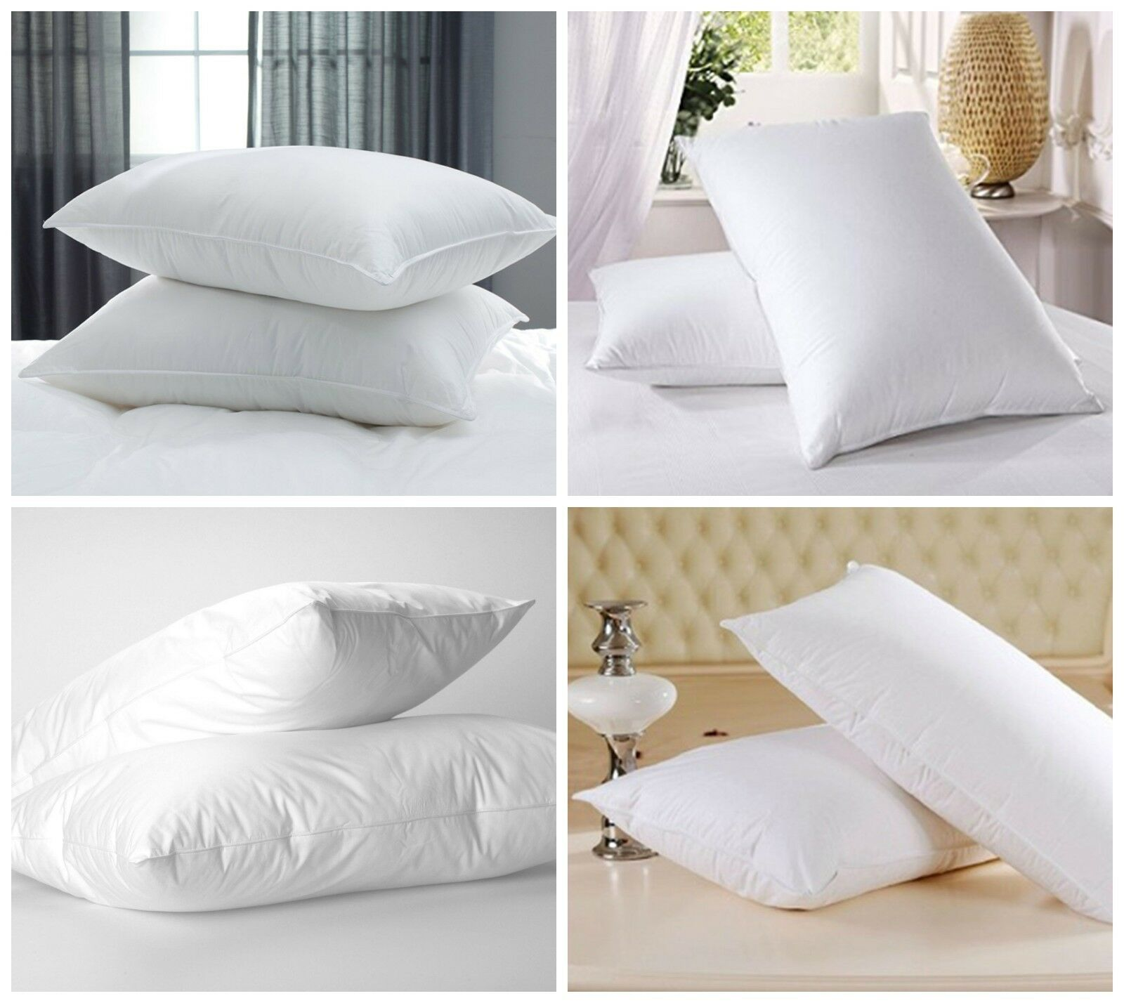 2 Extra Bouncy Luxury Bounce Back Pillows 2,4,6 /& 8 Packs OR 2 Housewife Pillows