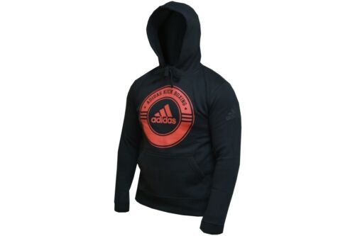 Adidas Kickboxing Hoody Black /& Red Gym Casual Hoodie Kick Boxing