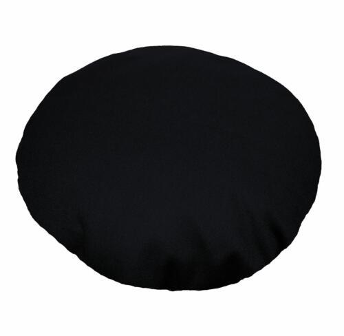 environ 340.19 g Aw30n noir forme ronde 12 oz d/'épaisseur en toile coton coussin//oreiller housse personnalisée Siz