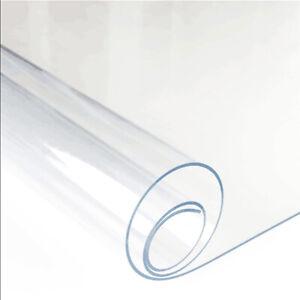 Tovaglia Tavola Plastica Plastificata Trasparente Cristal PVC 50 Cm x H 140 cm