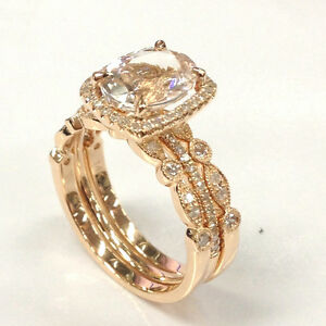 14k Rose Gold 7x9mm Oval Cut Morganite Diamonds Cushion