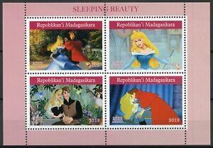 Madagascar-2019-estampillada-sin-montar-o-nunca-montada-dormir-belleza-4v-m-s-Disney-Dibujos