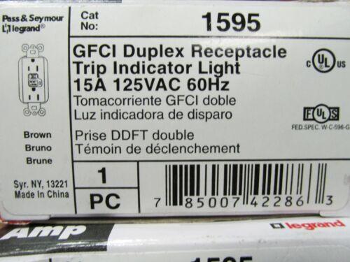 * NEW TRADEMASTER GFCI DUPLEX RECEPTACLE TRIP INDICATOR LIGHT 1595 ..... VM-28A