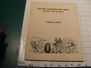 Vintage High Grade 1974 LESLEIGH'S ADVENTURE DOWN UNDER lesleigh luttrell 35pgs
