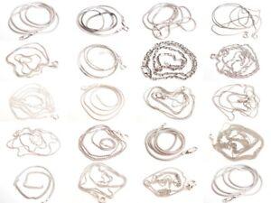Fine-Vintage-amp-Modern-Sterling-Silver-Chain-Necklace-Jewelry-Lot-U-Pick-925-F599