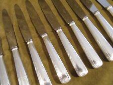 12 couteaux à dessert metal argente art deco volutes (dessert knives) Dixi