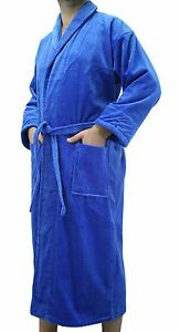 Shawl Style Terry Adults Robe, Bathrobe for Women and Men, Embroidery available