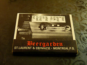 Rare-Vintage-Match-Book-Bavarian-Beergarden-Dancing-Dining-Room-amp-Orchestra