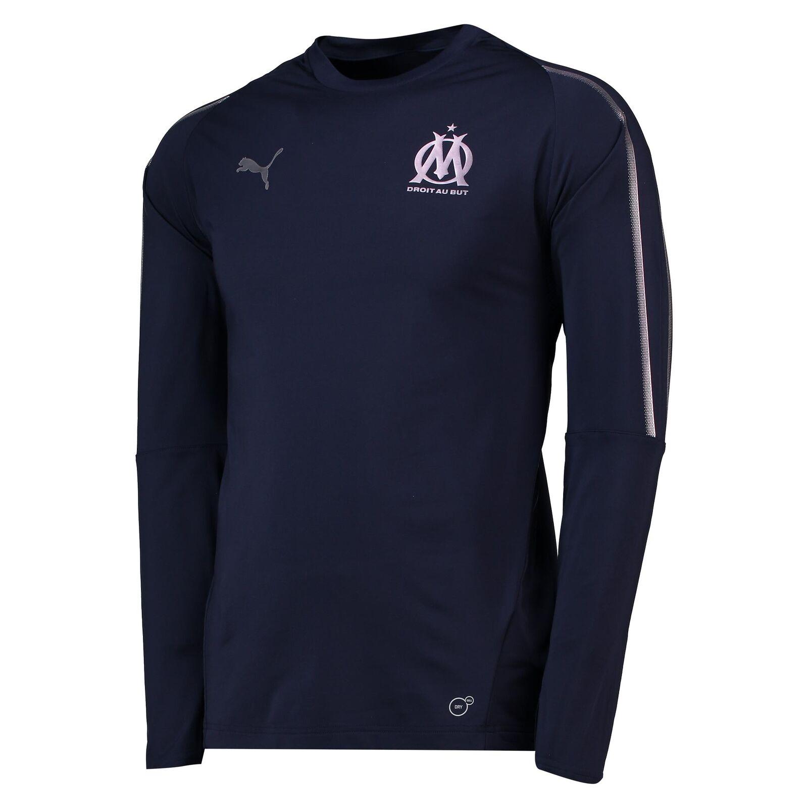 Olympique Olympique Olympique De Marseille Training Sweatshirt Pullover Dunkelblau Herren PUMA a29c92