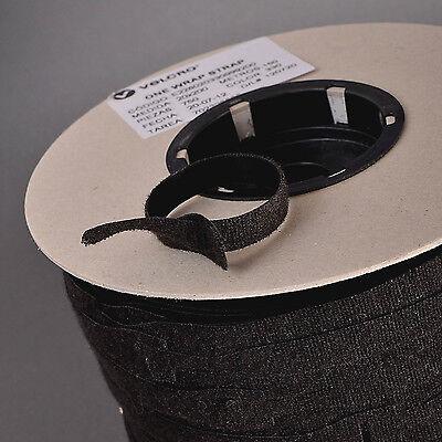 10 X 25mm x 300mm VELCRO BRAND® ONE WRAP CABLE TIES HOOK /& LOOP STRAP BLACK