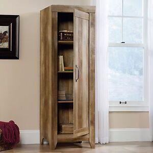 Kitchen Storage Cabinet Pantry Tall Rustic Food Organizer Cupboard ...