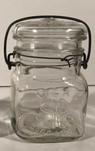 Clean Wire Bales Vintage c1923-1964 Pint Sized ATLAS GOOD-LUCK Canning Jar