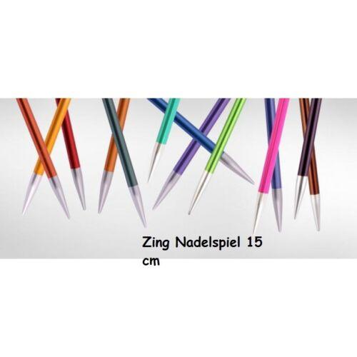KnitPro Zing aguja juego calcetines de aluminio recubierto multicolor 15 cm-diferentes