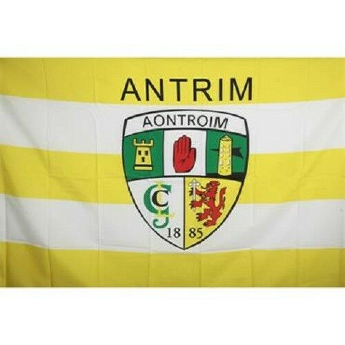Antrim GAA Official 5 x 3 FT Flag Large Crested Irish Gaelic Football Hurling
